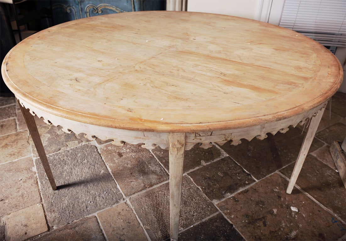 Rare Painted Gustavian Round Dining Table at 1stdibs : DBR7056 from www.1stdibs.com size 1101 x 768 jpeg 166kB