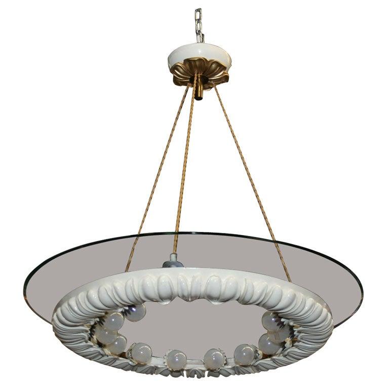 fontana arte chandelier designed by pietro chiesa at 1stdibs. Black Bedroom Furniture Sets. Home Design Ideas
