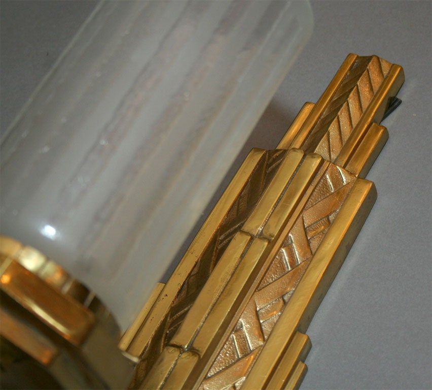 Art Deco Inspired Wall Sconces : Pair of Art Deco Style Wall Sconces at 1stdibs