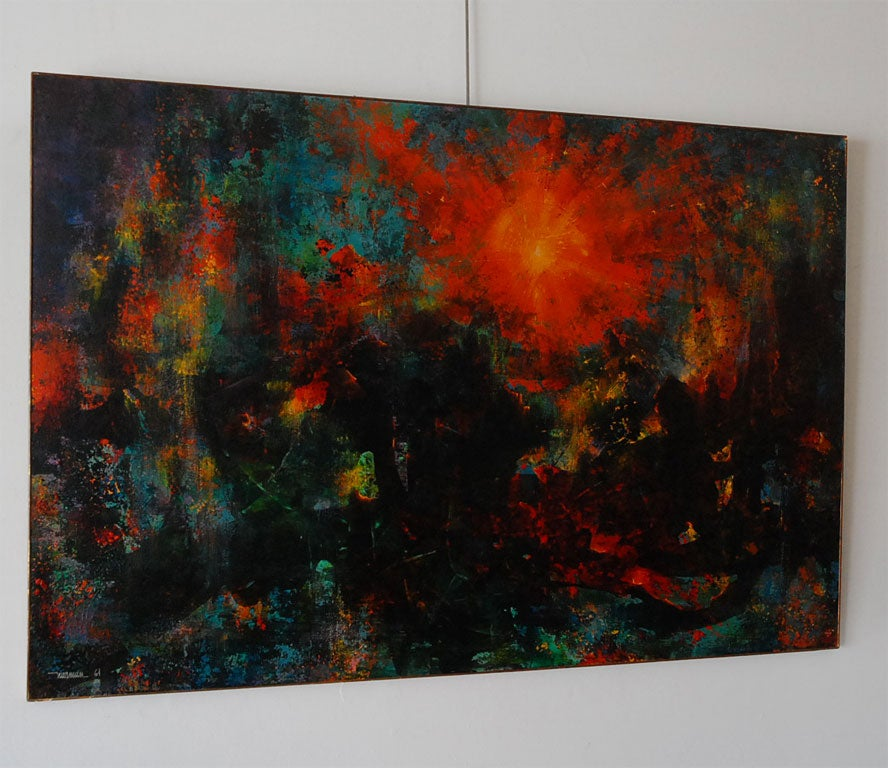 Very large abstract  painting by Leonardo Nierman 2