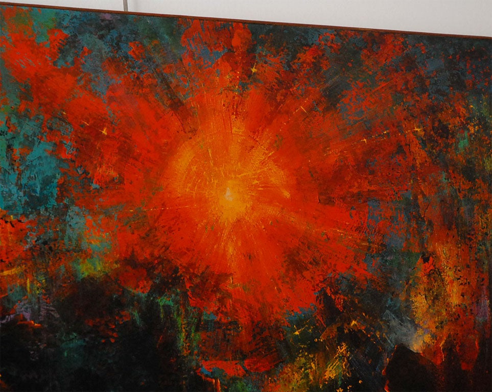 Very large abstract  painting by Leonardo Nierman For Sale 1