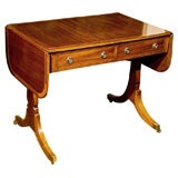 English, Mahogany Drop Leaf Sofa Table