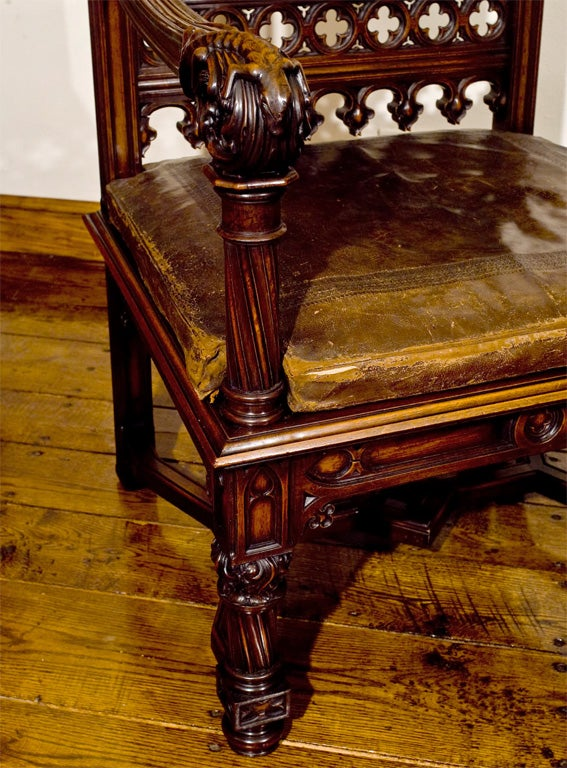 Carved Mahogany Bishop S Chair At 1stdibs