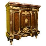 19th Century Louis XVI Marble-Top Cabinet Attributed to Joseph-Emmanuel Zwiener