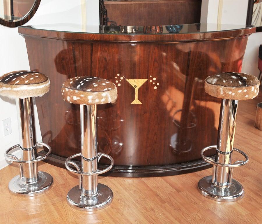 art deco wood martini bar at 1stdibs. Black Bedroom Furniture Sets. Home Design Ideas