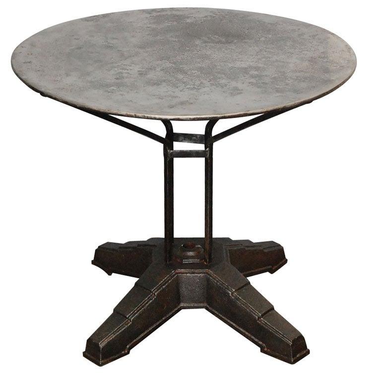 Polished Metal Garden Table