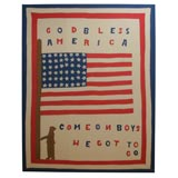 Applique and Pieced Quilt top:  GOD BLESS AMERICA