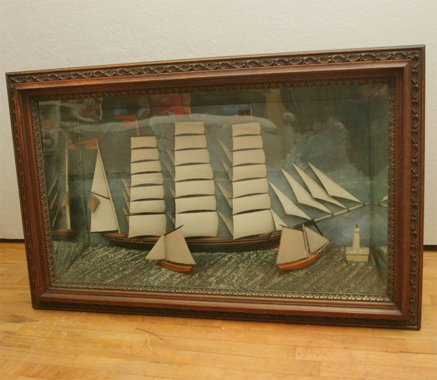 American Ship Diorama. For Sale