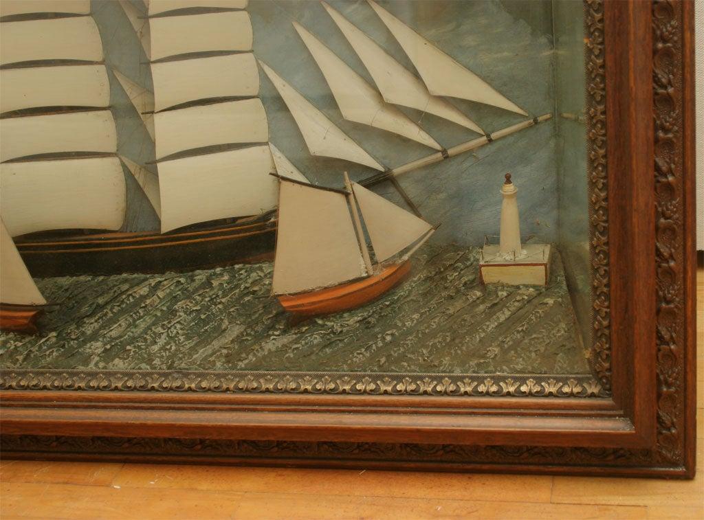 20th Century Ship Diorama. For Sale