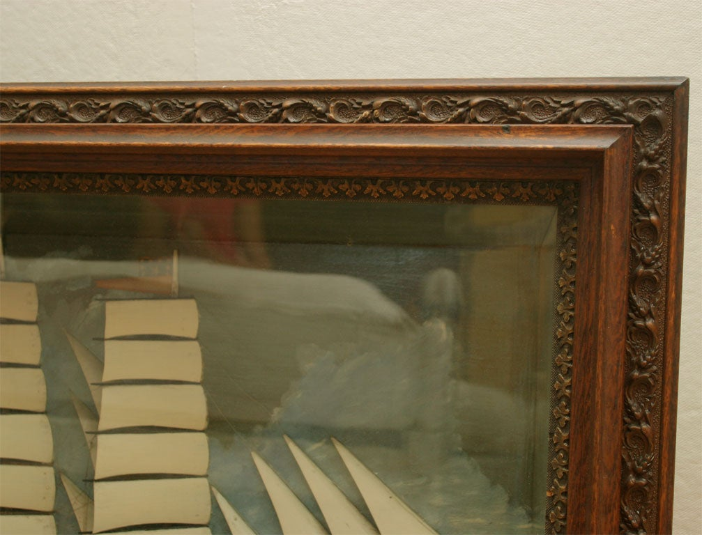 Wood Ship Diorama. For Sale