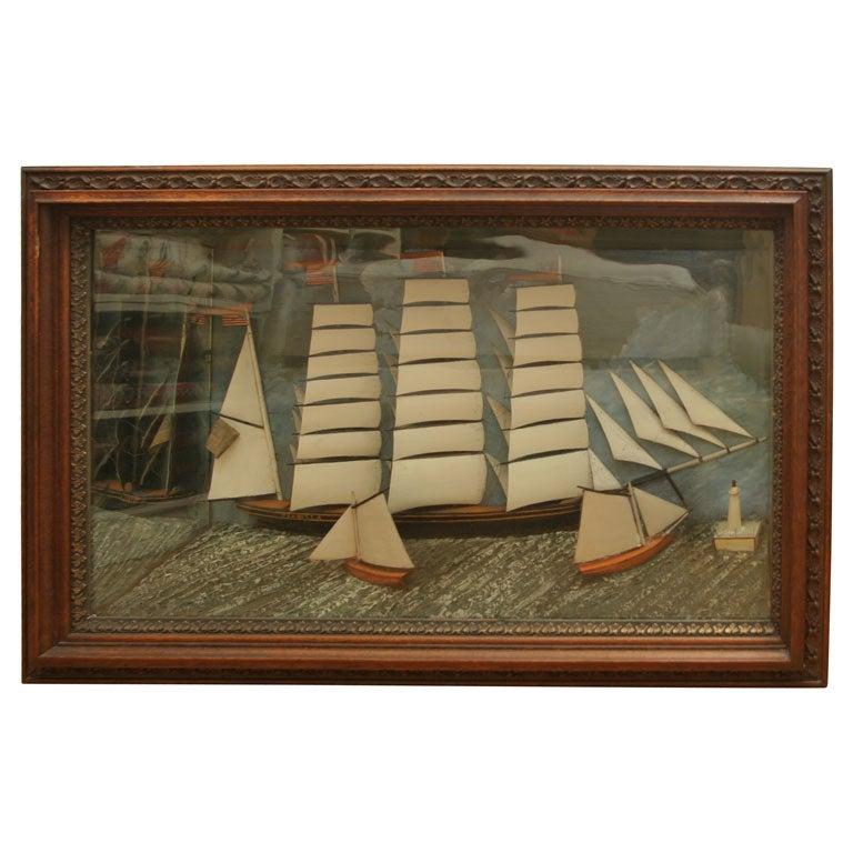 Ship Diorama. For Sale