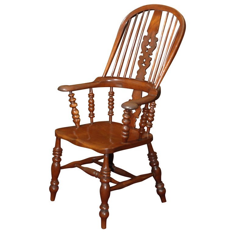 Large English Bow Back Windsor Chair At 1stdibs