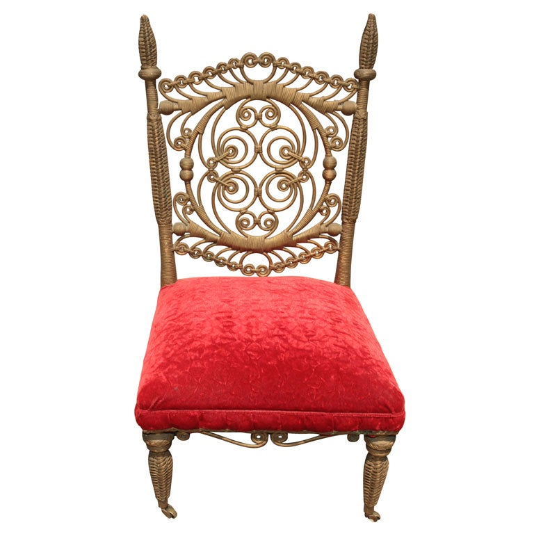 Victorian Wicker Side Chair At 1stdibs