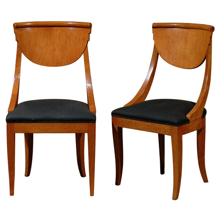 Set of 8 Biedermeier Dining Chairs at 1stdibs