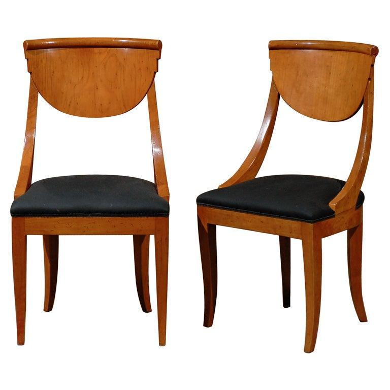 Set Of 8 Biedermeier Dining Chairs At 1stdibs