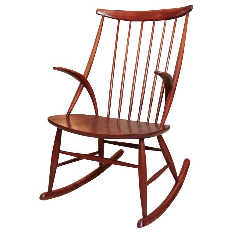 Illum wikkelso rocking chair at 1stdibs for Schaukelstuhl illum wikkelso