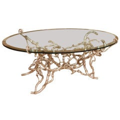 Candace Barnes Now, Handcrafted Iron Old Vines Cocktail Table
