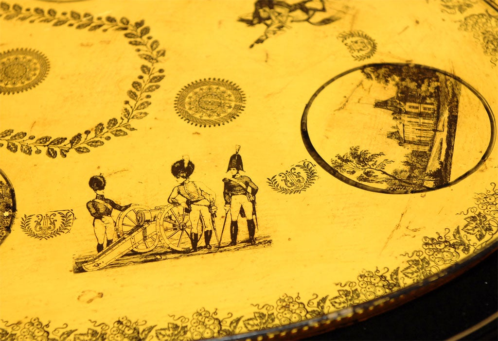 19th Century Charles x Tole Tray on Stand