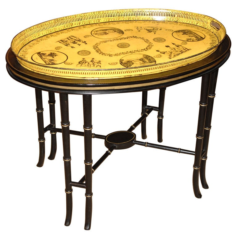 Charles x Tole Tray on Stand