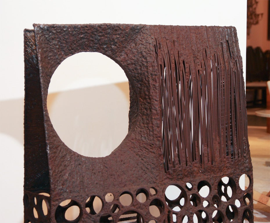 Mid-Century Modern Large Abstract Metal Sculpture For Sale