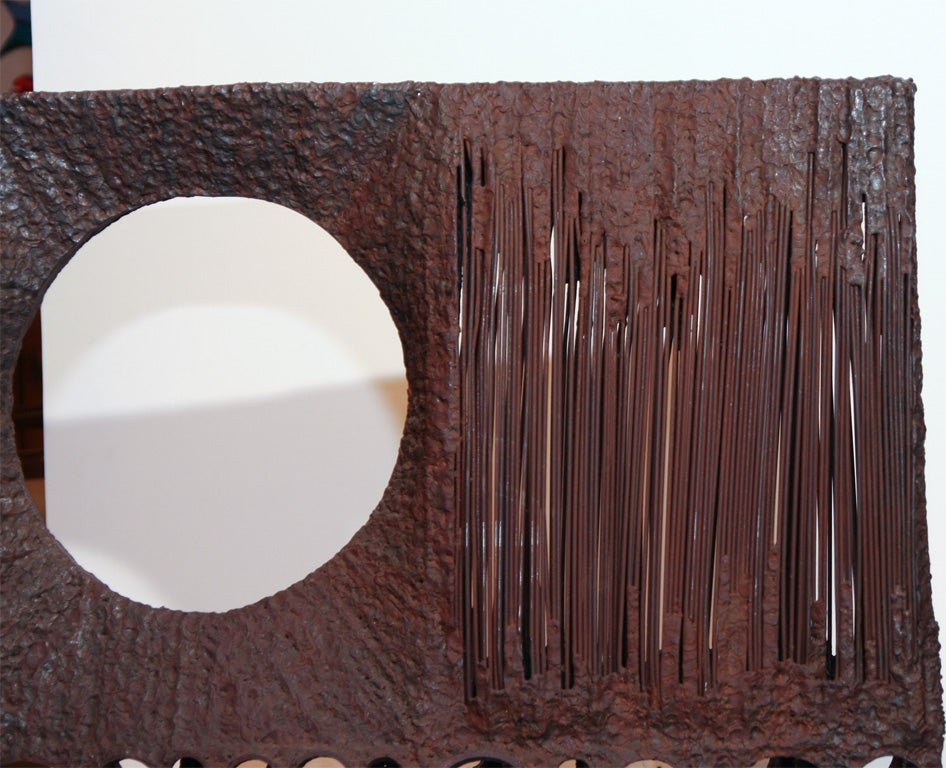 American Large Abstract Metal Sculpture For Sale