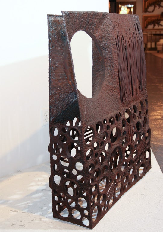 Mid-20th Century Large Abstract Metal Sculpture For Sale