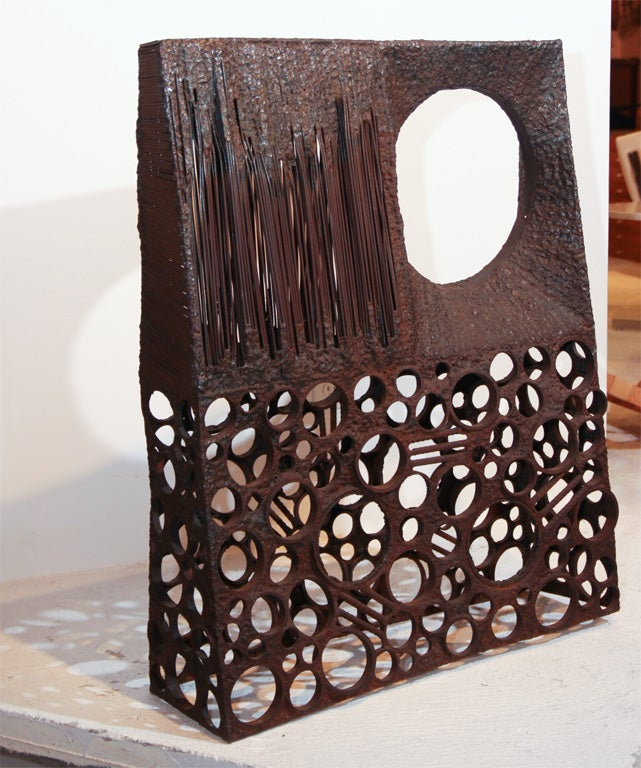 Direct metal sculpture, showing Cranbrook influence. From an estate in Shaker Heights, Ohio.