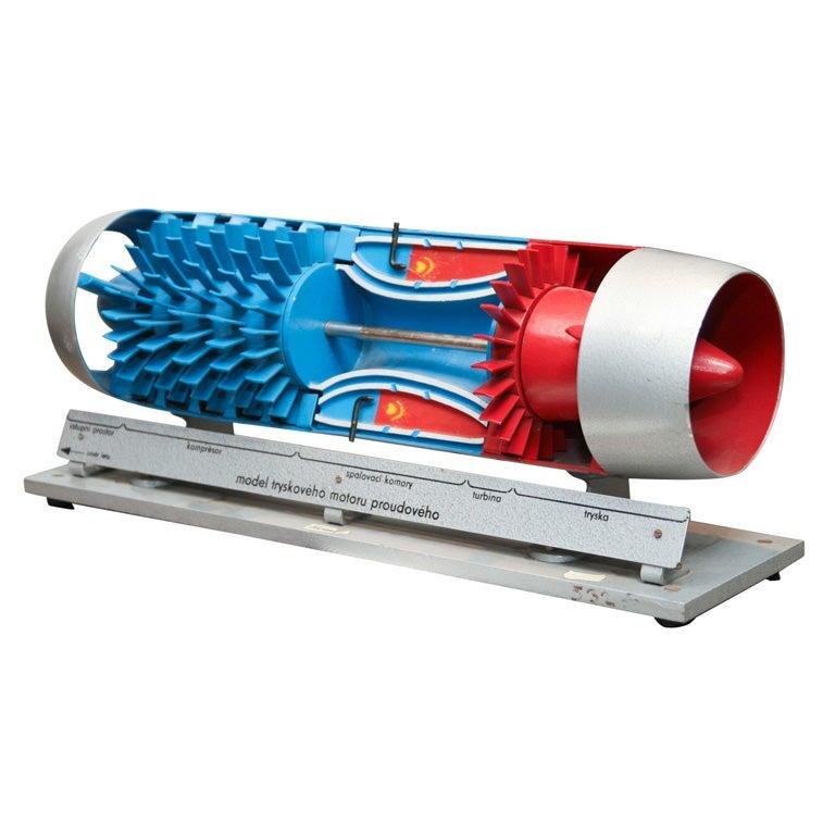 Jet Engine Models Cutaway Model of Jet Engine