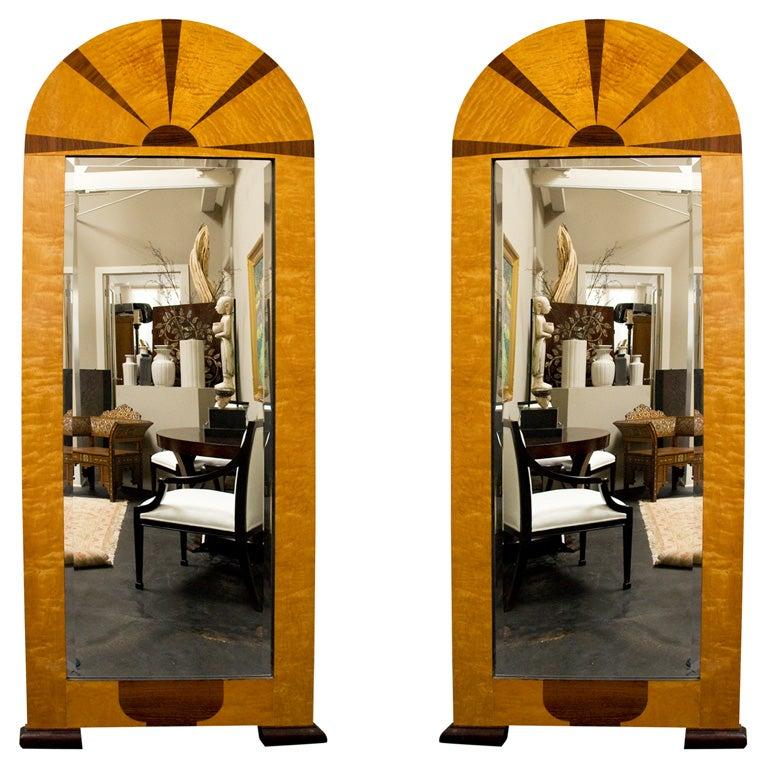 Pair of Swedish Art Deco Mirrors, Early 20th c