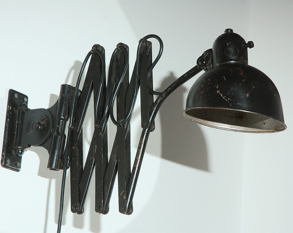 Wall Extension Light : Kaiser Idell by Christian Dell Extension Accordion Wall Light at 1stdibs