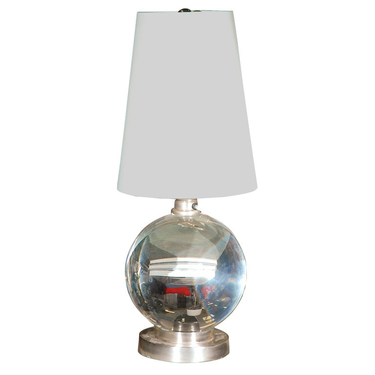 glass ball lamp at 1stdibs. Black Bedroom Furniture Sets. Home Design Ideas