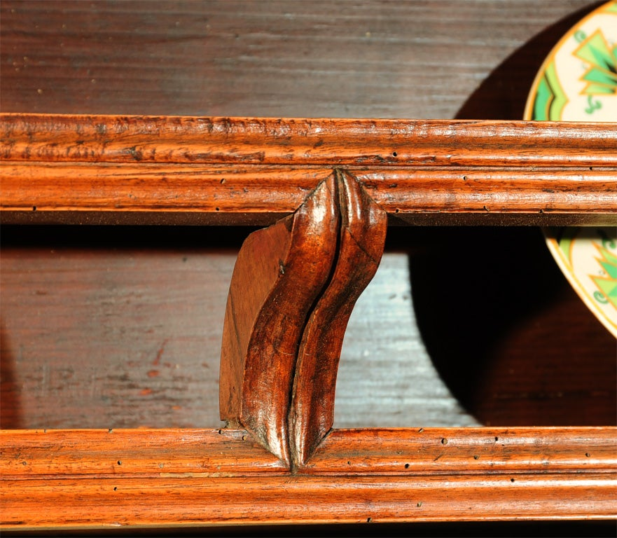 18th Century French Directoire Walnut Vaisselier or Cupboard In Good Condition In Houston, TX