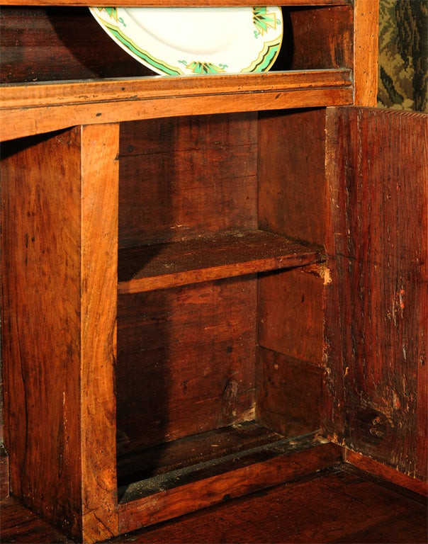 18th Century and Earlier 18th Century French Directoire Walnut Vaisselier or Cupboard