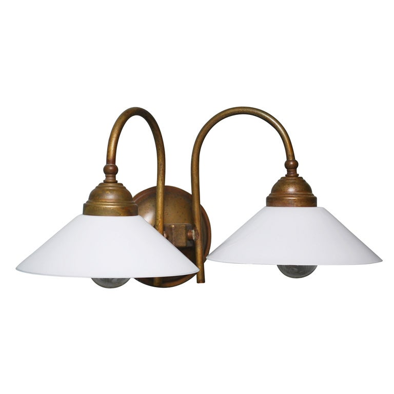 Wall Sconces Double : Tabia Double Wall Sconce at 1stdibs