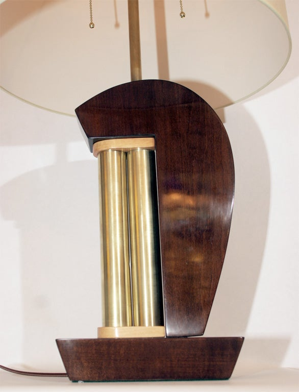 A pair of American Modernist table lamps. Shades not included