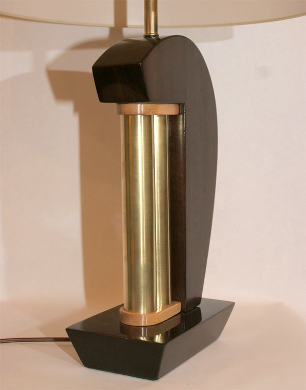 A Pair of American Modernist Table Lamps  In Excellent Condition For Sale In New York, NY