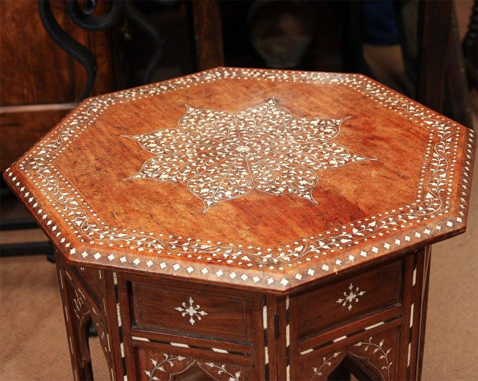 Anglo Indian Inlaid Sandalwood Table At 1stdibs