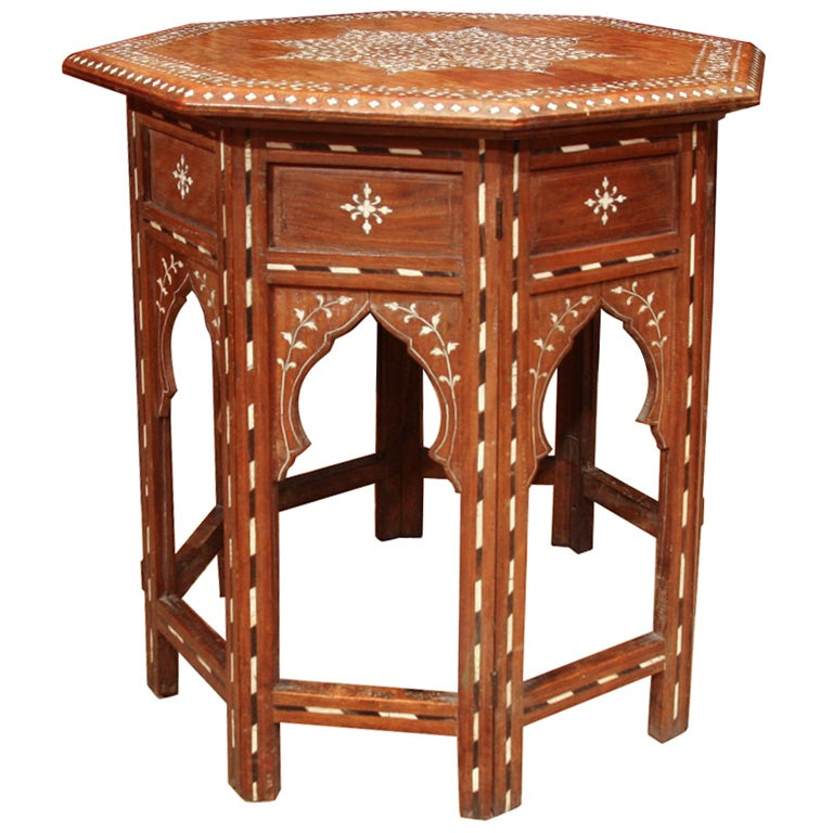 Anglo Indian Inlaid Sandalwood Table 1