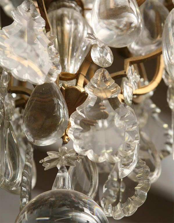 Antique French Quot Versailles Quot Gilt Bronze 8 Light Chandelier