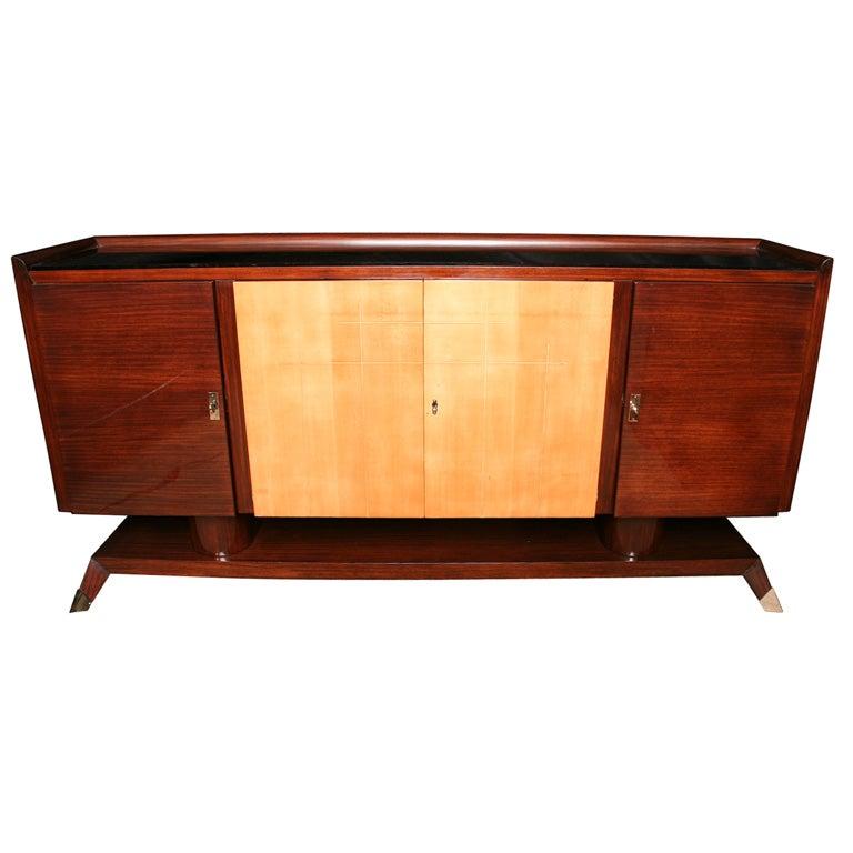 french art deco art moderne palisander sideboard at 1stdibs. Black Bedroom Furniture Sets. Home Design Ideas