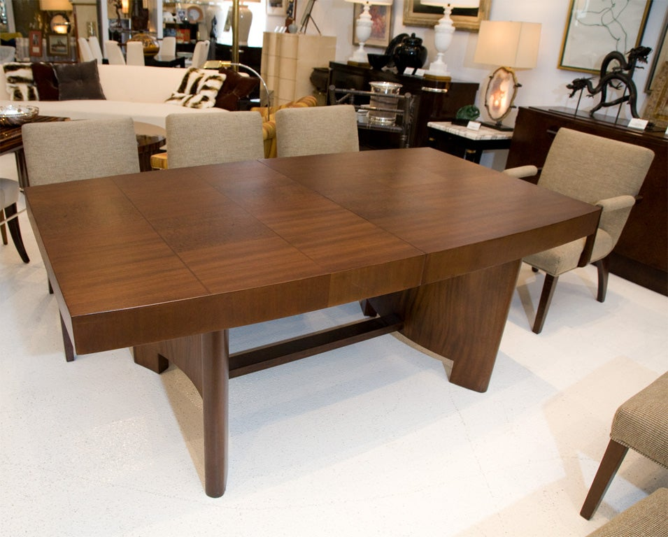 Gilbert rohde for herman miller dining table with eight