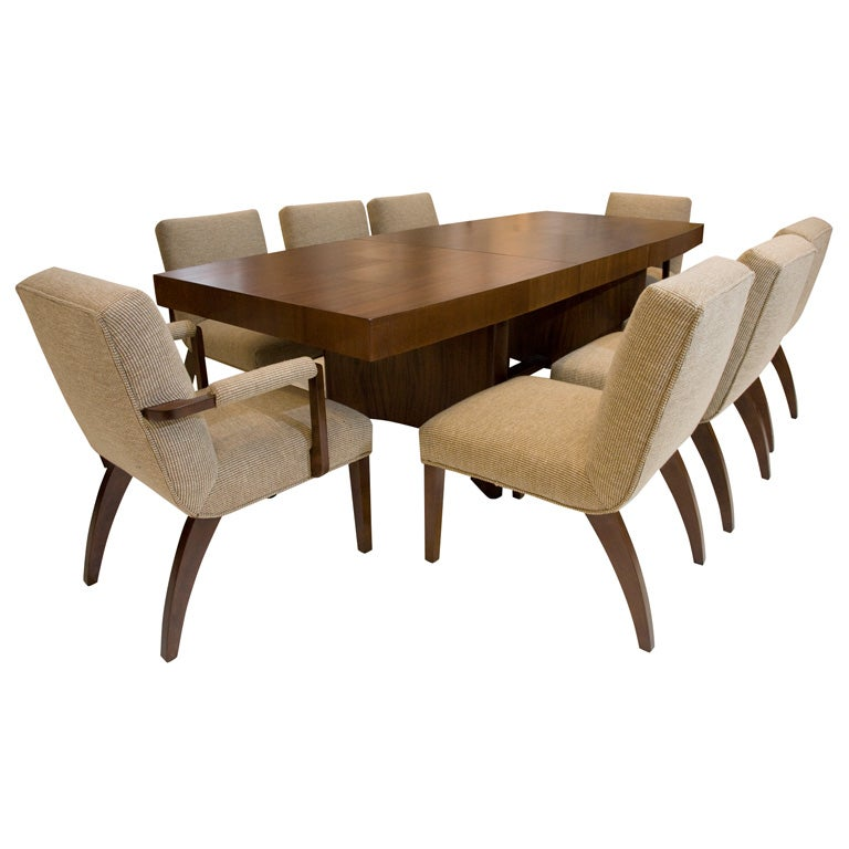 gilbert rohde for herman miller dining table with eight. Black Bedroom Furniture Sets. Home Design Ideas