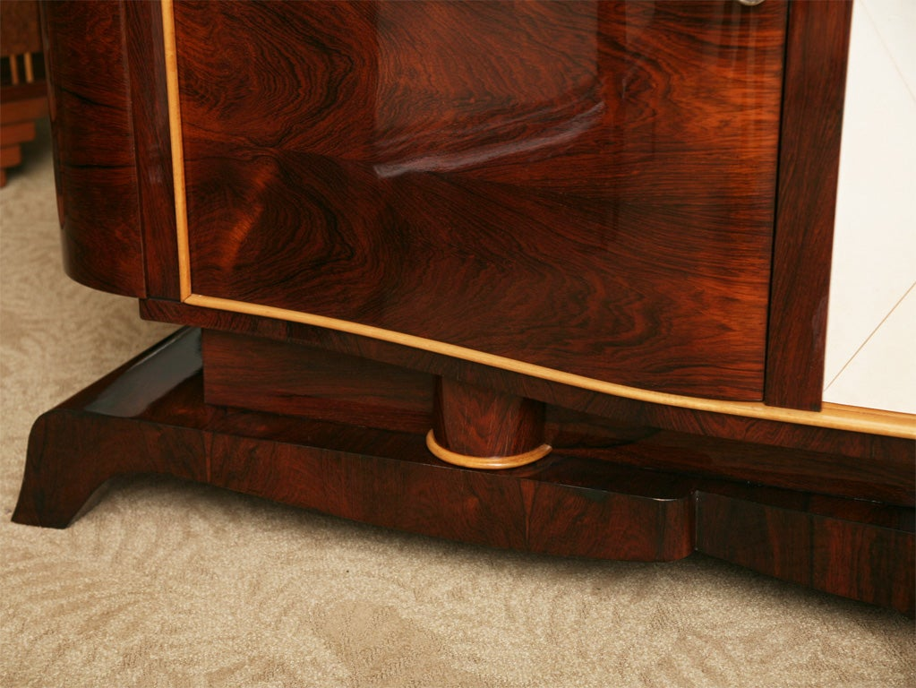 Classic French Art Deco Exotic Rosewood And Parchment