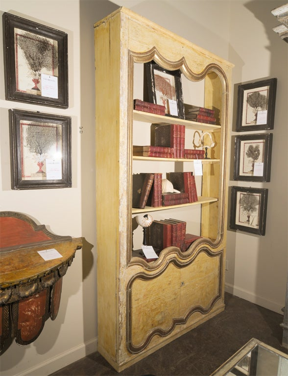 french bibliotheque made of 18th 19th century boiserie image 2. Black Bedroom Furniture Sets. Home Design Ideas