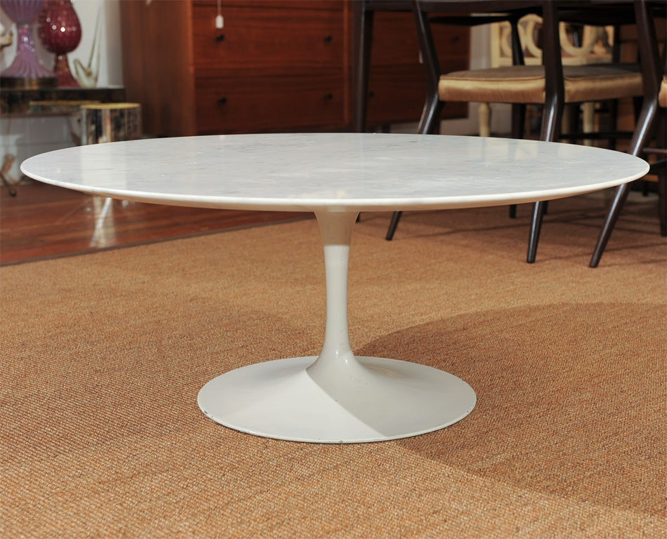 Knoll Marble Coffee Table At 1stdibs