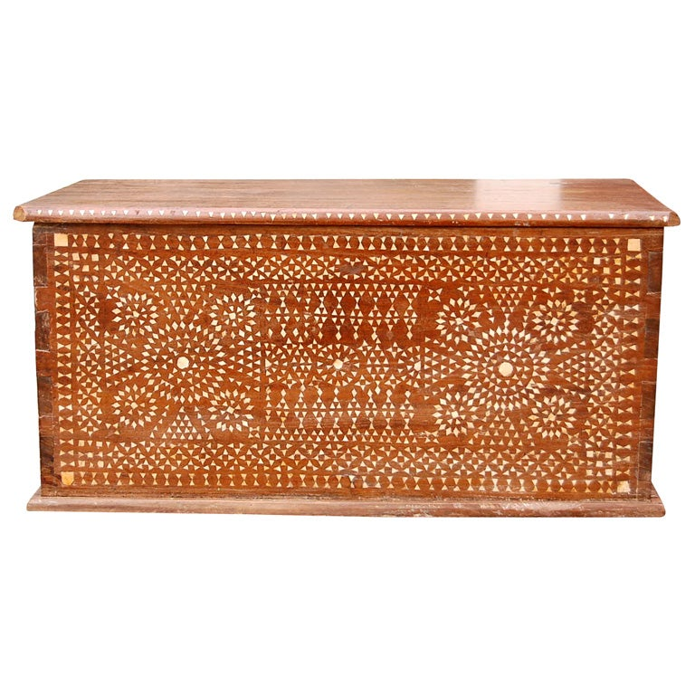 Colonial Inlaid Trunk