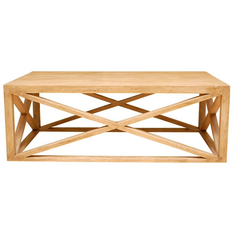 Distressed Beechwood Cocktail Table At 1stdibs