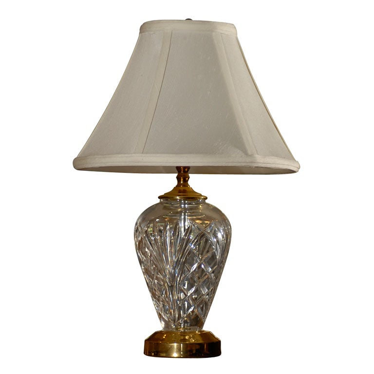 this small waterford crystal and brass kilkenny lamp is no longer. Black Bedroom Furniture Sets. Home Design Ideas