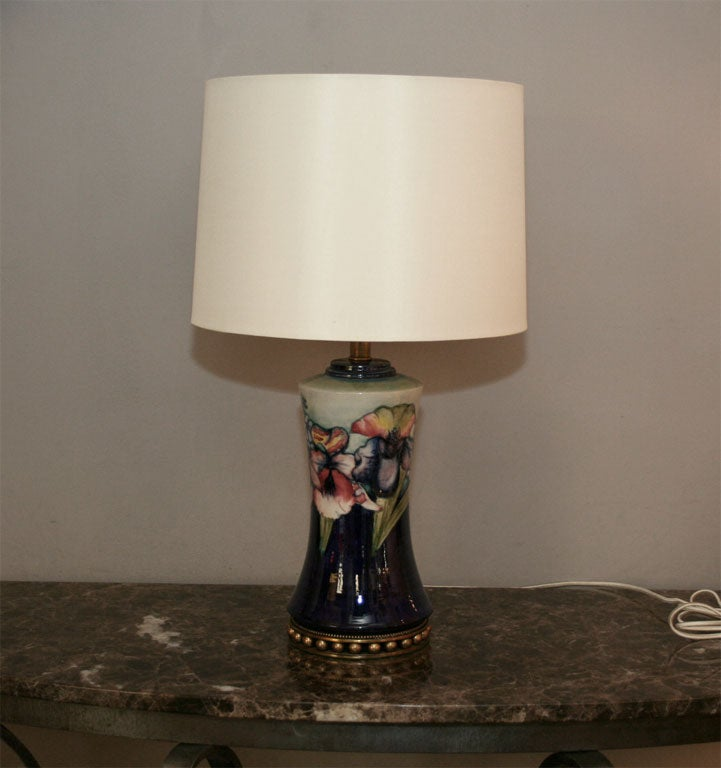 Moorcroft Art Deco pair of ceramic table lamps Shades not included
