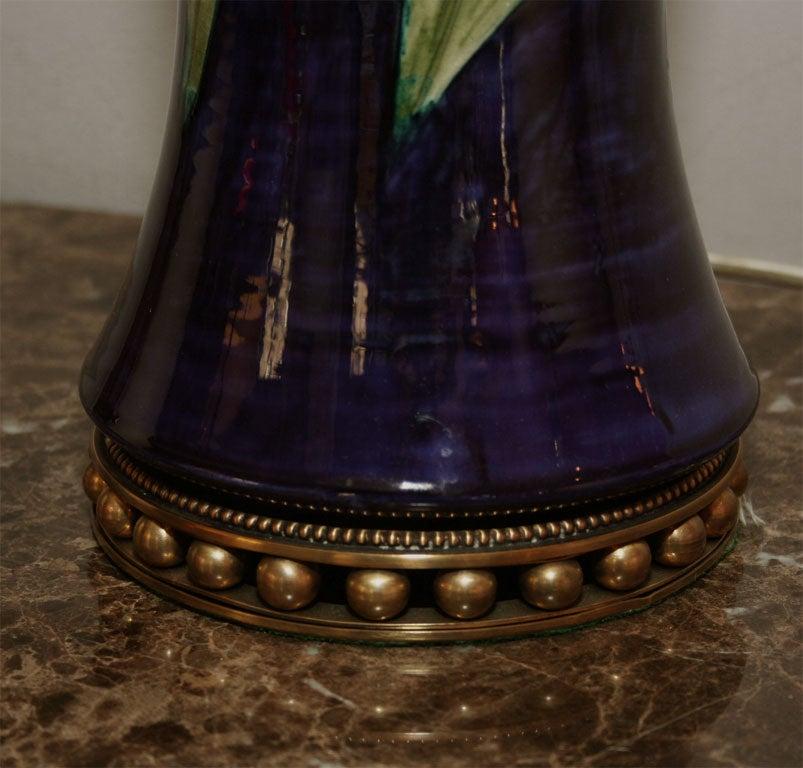 Moorcroft Art Deco pair of ceramicTable Lamps  5